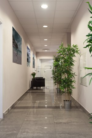 Photo for Interior of a contemporary new office building - Royalty Free Image