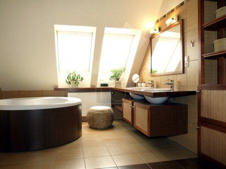 intérieur de la salle de bain