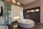 Round bath in a luxury mansion