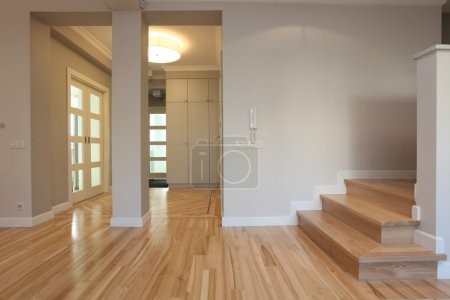 Photo for Interior of stylish house: corridor, entry, staircase - Royalty Free Image