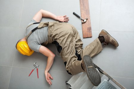 Handyman fell from ladder