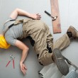 Handyman fell from ladder and severely got hurt...