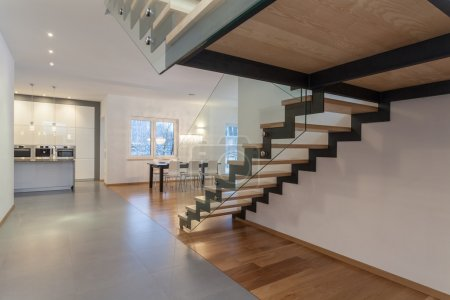 Photo for Designers interior - Interior od modern house and staircase - Royalty Free Image