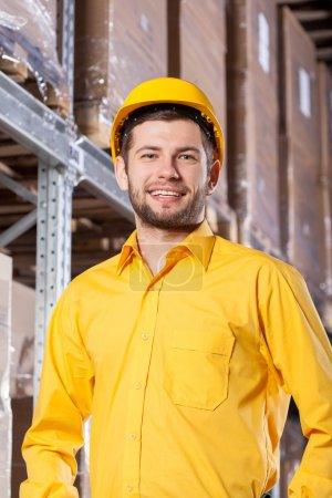 Supervisor during job in warehouse