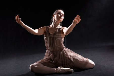Photo pour Danseuse de ballet jouant sur scène . - image libre de droit
