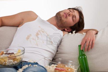 Dirty drunk lounger