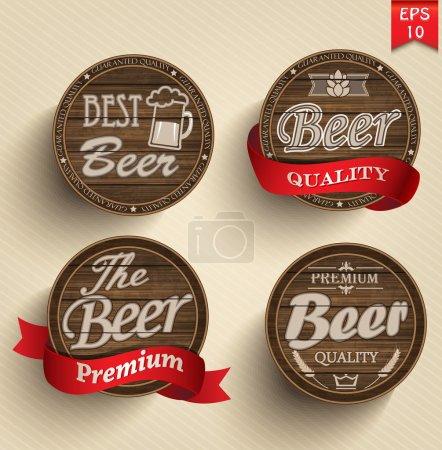 Set of beer product logo labels