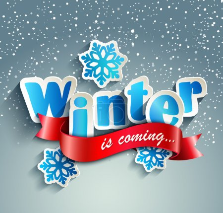 Illustration for Word Winter. Vector illustration - Royalty Free Image