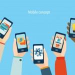 Concept for mobile apps, Flat design vector illust...