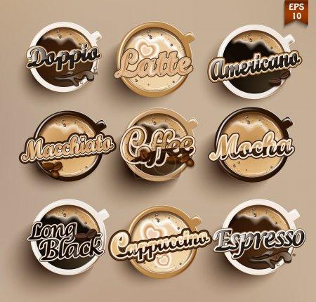 Illustration pour Icône café définir menu . - image libre de droit