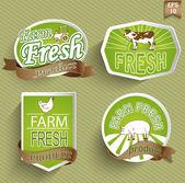 Farm fresh food label