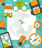 Turistické vybavení info grafika