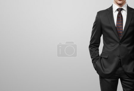 Photo for Man in suit on a white background - Royalty Free Image