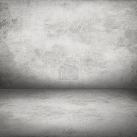 white concrete wall and floor