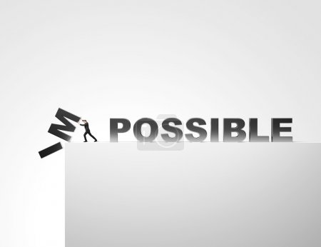 Make it possible. Motivational concept.