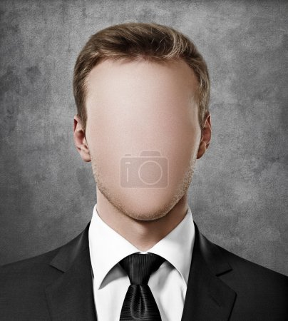 Faceless person portrait