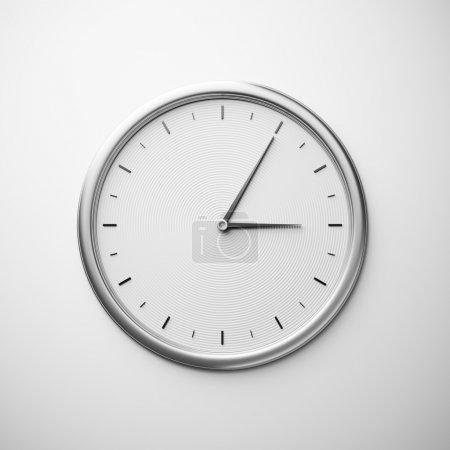 Photo pour Horloge murale blanche - image libre de droit