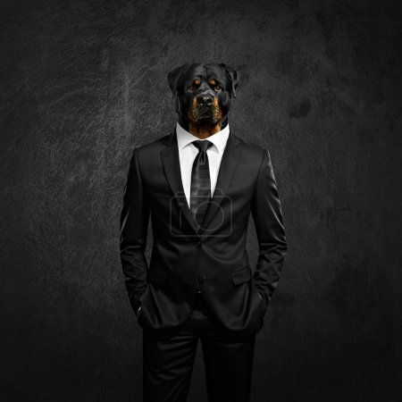 Photo for Elegant man with dog head - Royalty Free Image