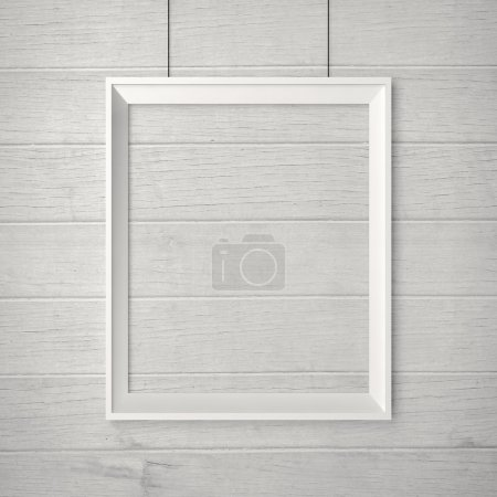 blank frame on a wood wall