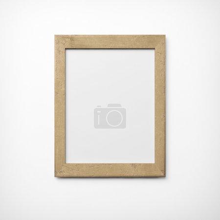 Photo pour Cadre photo en vieux bois - image libre de droit
