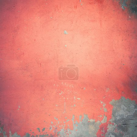 Photo for Red damaged wall - Royalty Free Image