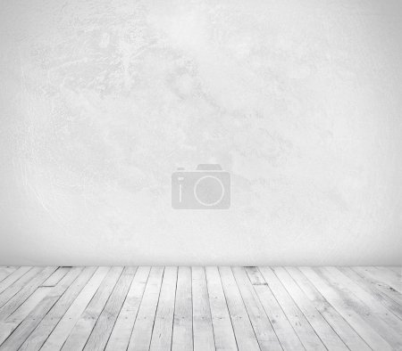 Photo for White wall and wood floor - Royalty Free Image