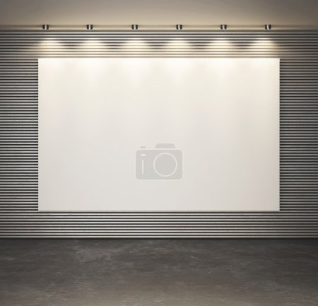 White blank poster on the wall