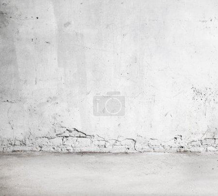White painted brick wall