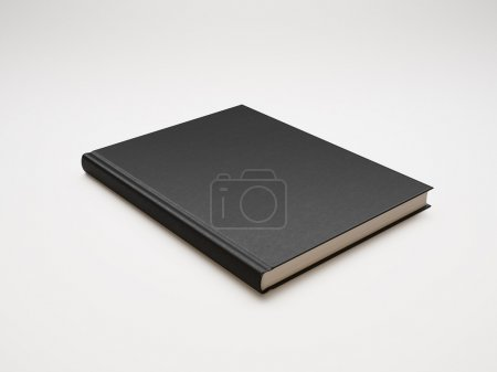 Book with black blank cover