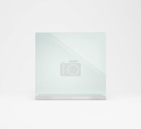Empty glass presentation box