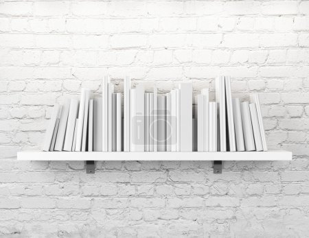 White shelf with books