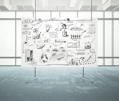 Photo for Flip chart with business strategy - Royalty Free Image