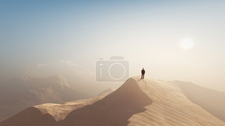 Photo for Man in a desert - Royalty Free Image