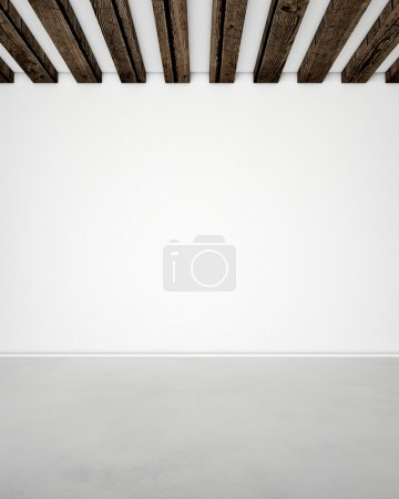 White wall and floor