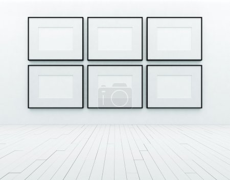 Blank frames on wall