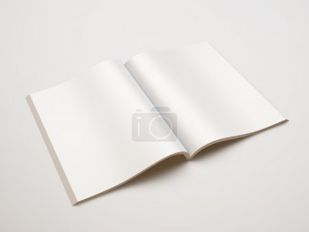 Foto de Revista en blanco abierta - Imagen libre de derechos