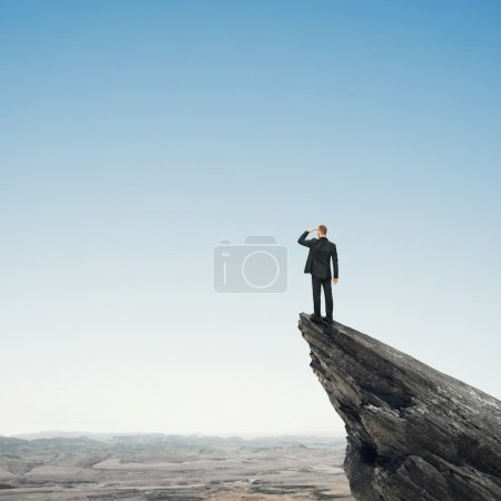 Photo for Man looking at landscape - Royalty Free Image