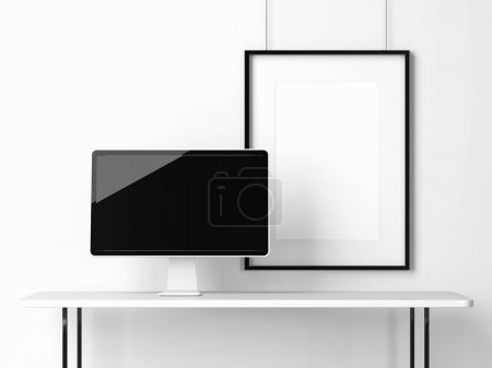 Black screen monitor and frame