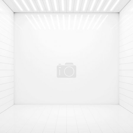 Photo for Empty room with light coming from above through vents - Royalty Free Image