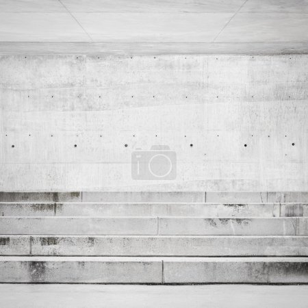 Concrete wall and stairs