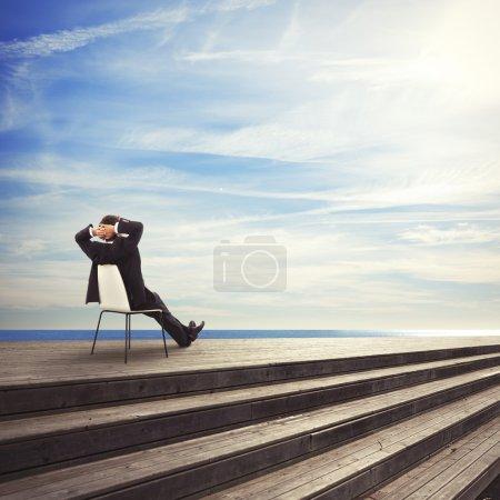Businessman sitting on a chair