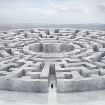Photo for Businessman and huge maze - Royalty Free Image