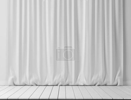 Photo pour Rideaux blancs fond - image libre de droit