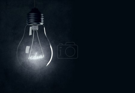Photo for Bulb with shining idea - Royalty Free Image