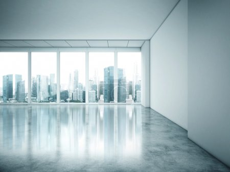 Photo for Large window of white office - Royalty Free Image