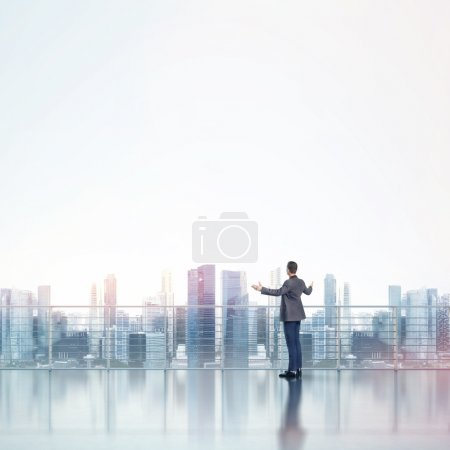 Businessman near window