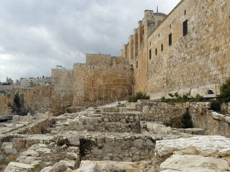 Photo for Jerusalem: The Temple Mount from the time of the Second Temple, view from the east side. - Royalty Free Image