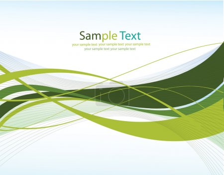 Illustration for Green lines.Abstract vector background with place for your text - Royalty Free Image