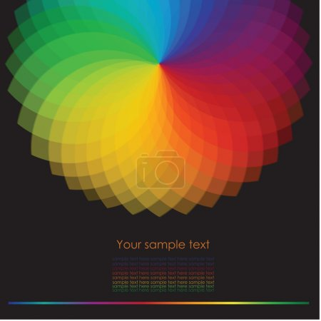 Illustration for Color wheel background with place for your text.Vector Illustration - Royalty Free Image