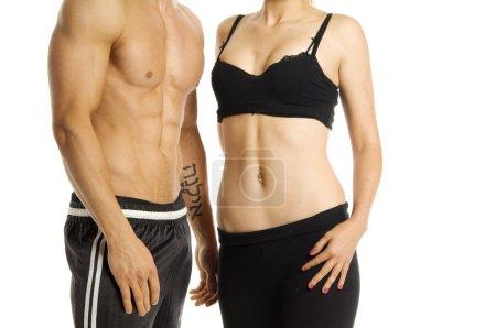 Man and woman's torsos